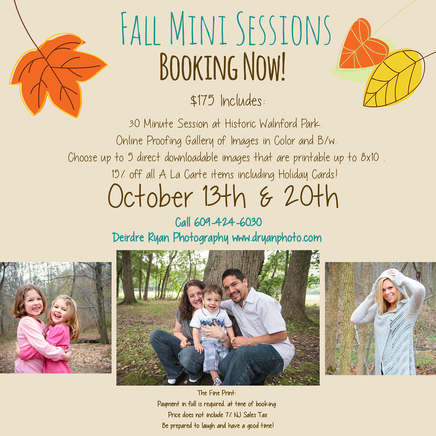 Fall Mini Portrait Sessions At Historic Walnord Park With Deirdre Ryan Photography